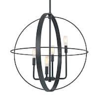 Capital Lighting Transitional 4-light Black Iron Pendant