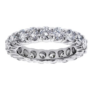 Platinum 3ct TDW Diamond Eternity Wedding Band (G-H, SI1-SI2)