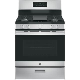 GE Stainless Steel 30-inch Free-Standing Gas Range (Option: White)