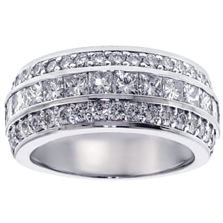Platinum 2ct TDW Diamond Anniversary Band