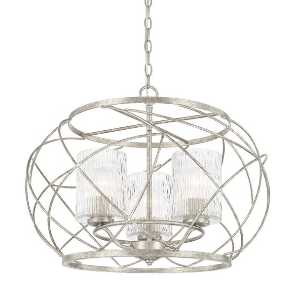 capital lighting riviera collection 3 light antique silver pendant