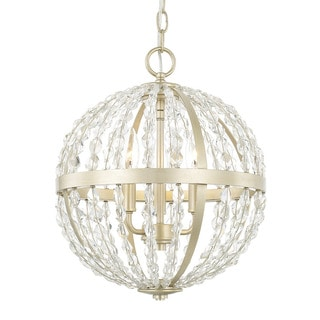 Capital Lighting Camille Collection 3-light Soft Gold Pendant