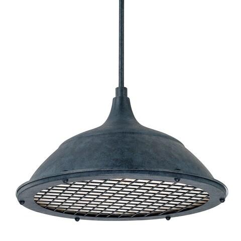 Capital Lighting Transitional 1-light Weathered Zinc Pendant