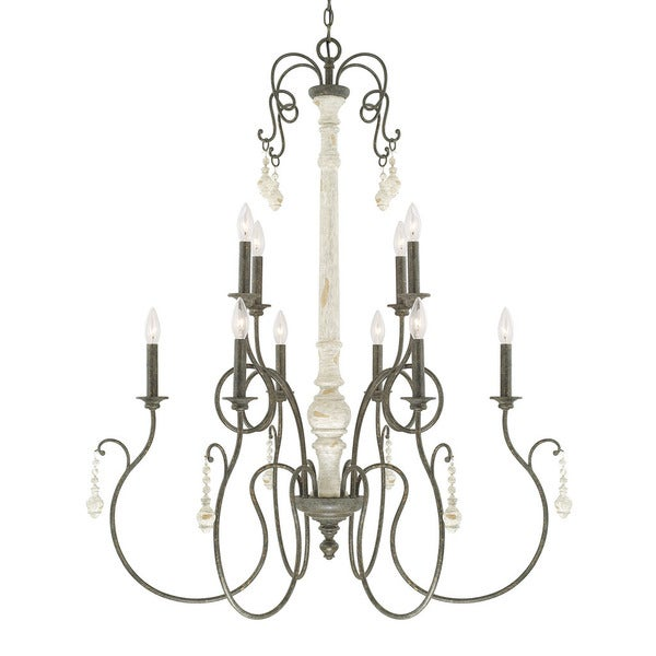 Capital Lighting Vineyard Collection 10 Light French Country Chandelier