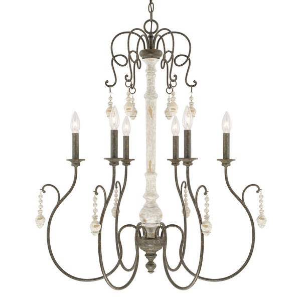 Capital lighting vineyard collection 6 light french country chandelier