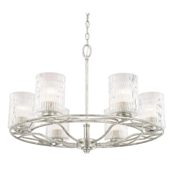 Capital Lighting Riviera Collection 6-light Antique Silver Chandelier - Shop Capital Lighting Riviera Collection 6-light Antique Silver