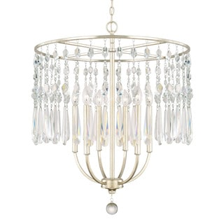Capital Lighting Juliette Collection 6-light Winter Gold Chandelier