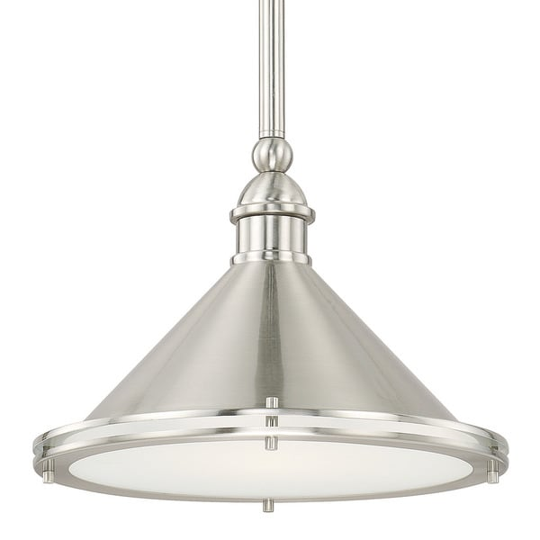 Capital Lighting Langley Collection 1 Light Brushed Nickel Pendant Free Shipping Today