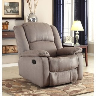 Microfiber Recliner in Grey