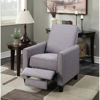 Porch & Den Bay View Tonet Grey Linen Push Back Recliner