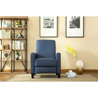 Linen Push Back Recliner in Blue