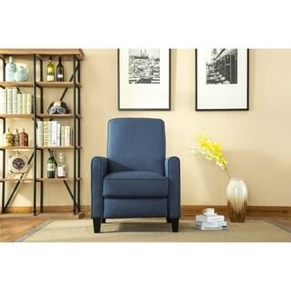 Savannah Linen push back recliner, Blue Color