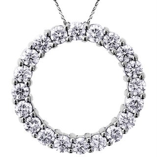 Platinum 3ct TDW 'Circle of Love' Diamond Pendant (G-H) (SI1-SI2)