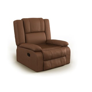 Chocolate color Microfiber Recliner by Nathaniel Home