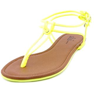 Famous Name Brand Women's 'Byell' Yellow Man-made Sandals
