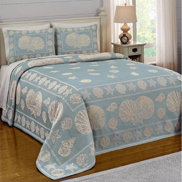 Weekend in New England Jacquard Bedspread