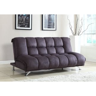 Microfiber Futon Sofa in Grey