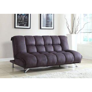 Microfiber Futon Sofa in Grey