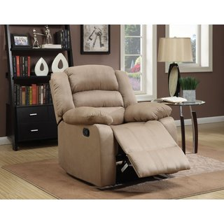 Microfiber Recliner in Tan