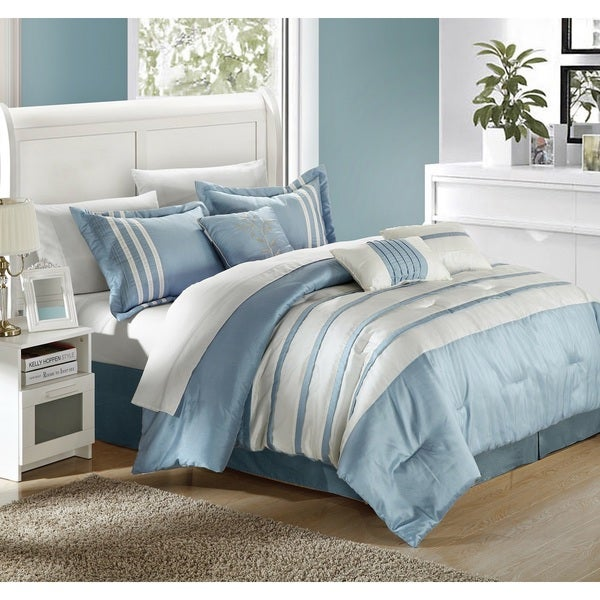 Chic Home Tijuana Blue/White 7-piece Comforter Set