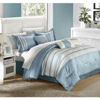 Chic Home Tijuana  Blue/White 7-piece Comforter Set