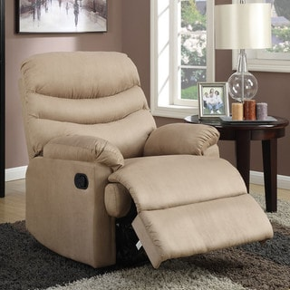 Anthony Collection Tan Microfiber Recliner by Nathaniel Home