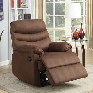 Porch & Den Bay View Hilbert Medium Brown Microfiber Recliner