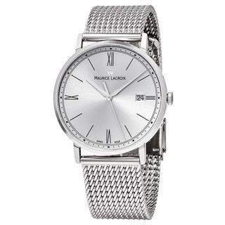 Maurice Lacroix Men's EL1087-SS002-112 'Eliros' Silver Dial Stainless Steel Swiss Quartz Watch