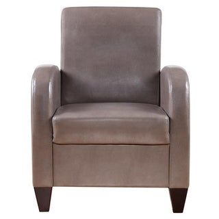 Polyurethane Accent Chair with Solid Wood Legs and Frames in Tan