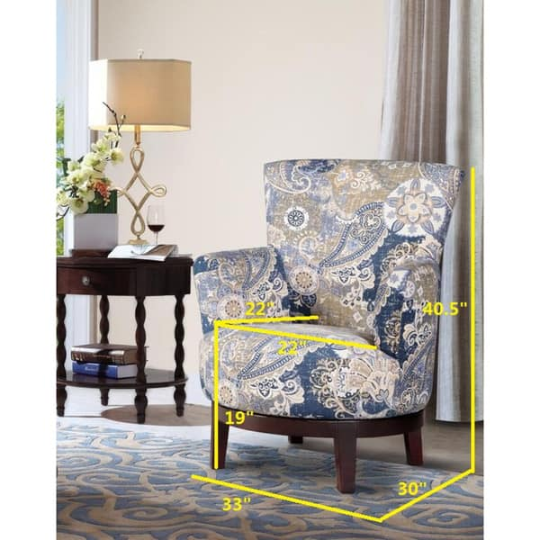 Pleasant Shop Swivel Accent Chair With Paisley Pattern Free Machost Co Dining Chair Design Ideas Machostcouk