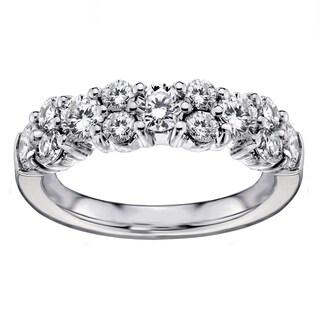 Platinum 2ct TDW Brilliant-cut Garland Diamond Wedding Band (G-H, SI1-SI2)