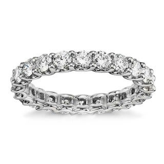 Platinum 1 2/3 - 2ct TDW Round Diamond Wedding Band (G-H, SI1-SI2)