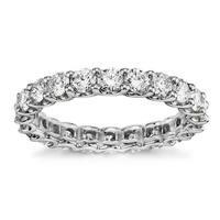 Platinum 1 2/3 - 2ct TDW Round Diamond Wedding Band