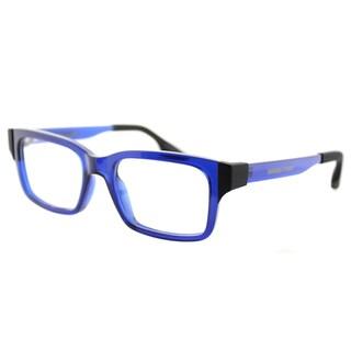 McQ MQ 0016O 004 Transparent Blue Plastic Rectangle 51mm Eyeglasses