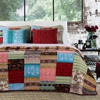 Greenland Home Fashions  Bohemian Dream Authentic Patchwork Bonus 5-piece Quilt Set