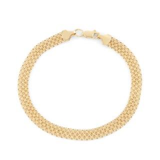 Gioelli 14k Gold Bismark Chain Anklet