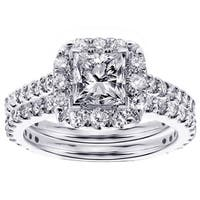 18k White Gold 2ct TDW Diamond Bridal Ring Set
