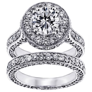 Platinum 5 1/2ct TDW Round Diamond Bridal Set