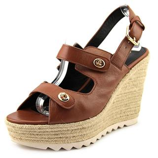Coach Women's 'Electra' Brown Leather Sandals