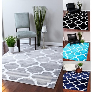 Two-tone Trellis Pattern Contemporary Moroccan-style Area Rug (2'2 x 7'3)