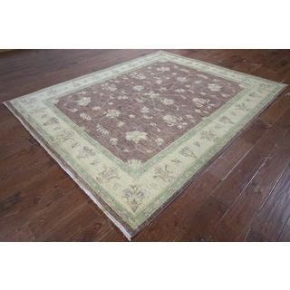 Hand-knotted Chobi Brown Wool Rug (6'9 x 8'4)