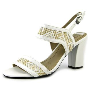 Life Stride Women's 'Luna' Faux White Leather Sandals