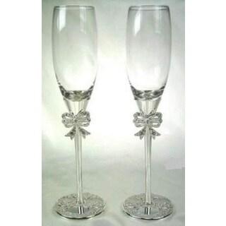 Elegance Filigree Pair of Fluted Goblets (1 Pair)