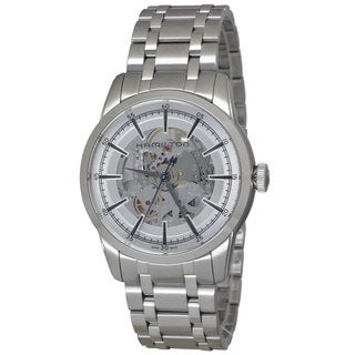 Hamilton Men's H40655151 Railroad Skeleton Auto Silver Watch