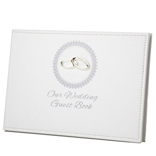 Heim Concept Our Wedding Guest Book with Ring Icon and Engraving Plate