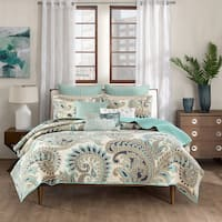 INK+IVY Mira Blue 3-piece 100-percent Cotton Coverlet Set