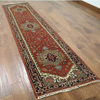 Hand-knotted Serapi Red Wool Runner (2'5 x 9'10)