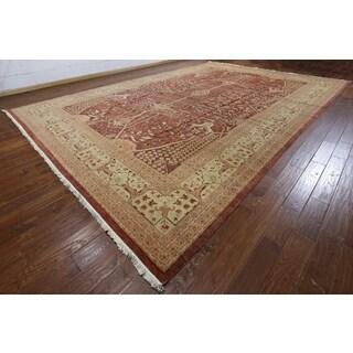Hand-knotted Peshawar Rust Wool Rug (12'1 x 17'7)