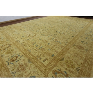 Hand-knotted Peshawar Ivory Wool Rug (14'1 x 19'10)