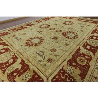 Hand-knotted Peshawar Ivory Wool Rug (11'10 x 15'7)